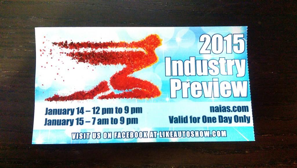 NAIAS Industry ticket